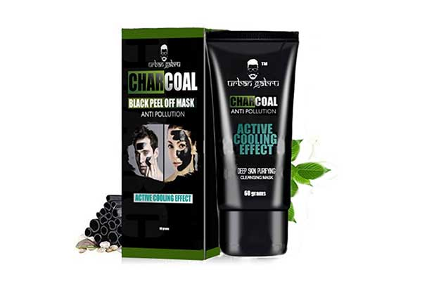 Activated Charcoal Face Mask in India 2019 - Urbangabru Charcoal Peel-Off Mask, 60g