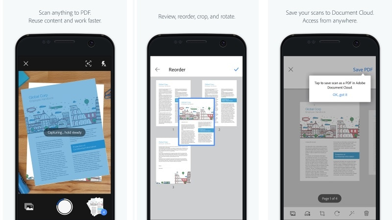 Adobe Scan app creates searchable, editable PDFs for free
