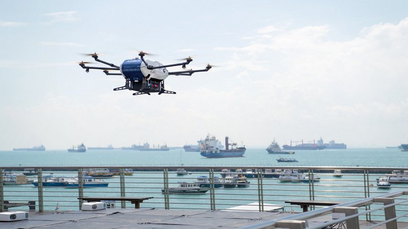 Airbus begins Trials of Drone Delivery to Ships