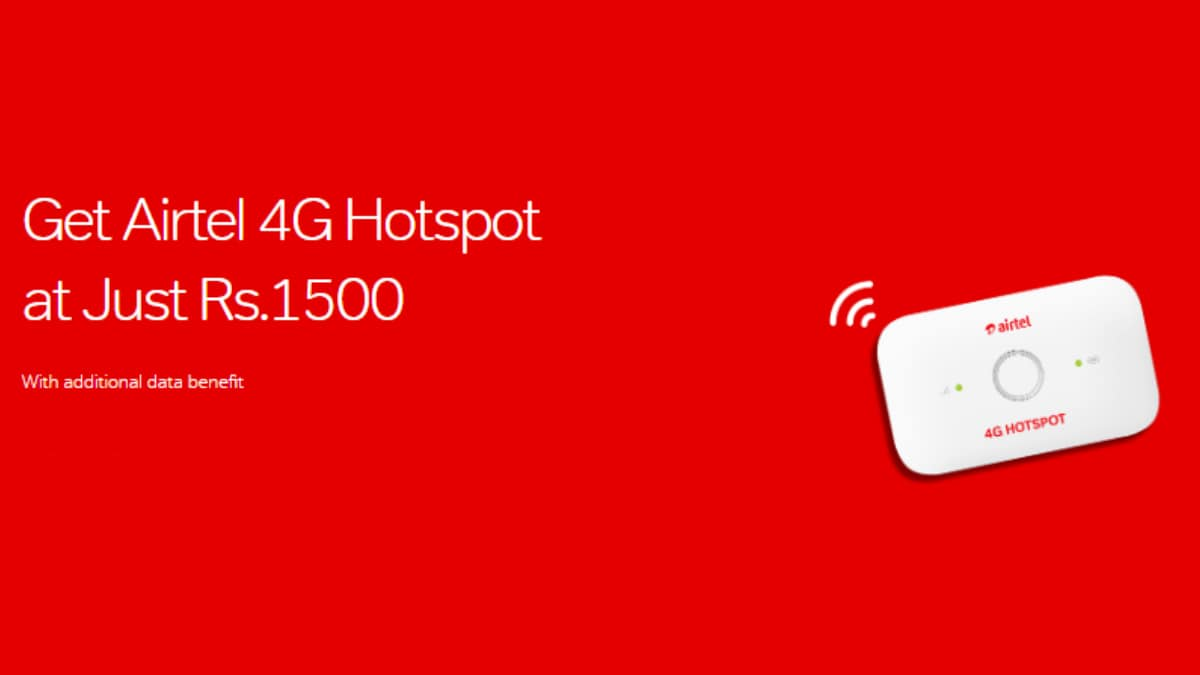 Airtel 4G Hotspot Now Available With Prepaid, Postpaid Plan Options With Up to 126GB Data