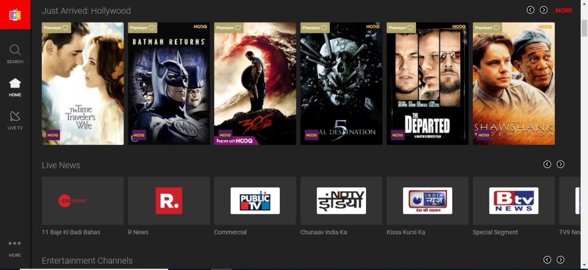 Airtel TV Now Available on Web With Live TV Support