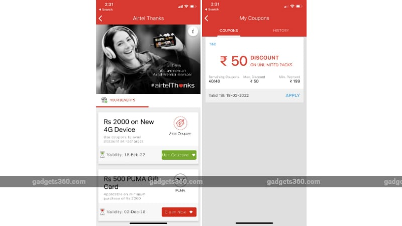 airtel cashback offer Airtel cashback