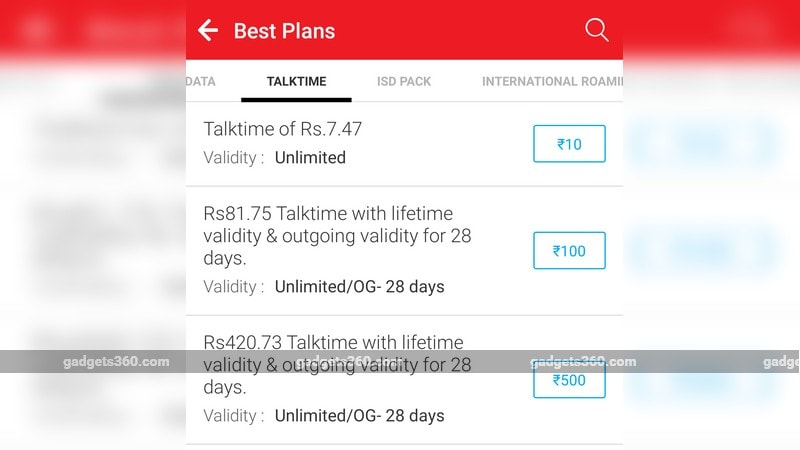 Airtel Rs. 100, Rs. 500 Recharge Plans Re-Introduced With 28 Days Validity