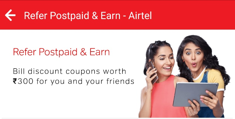 Airtel Discount Coupons Worth Rs. 1,500
