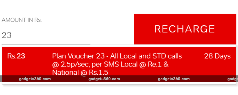 airtel rs 23 recharge gadgets 360 Airtel
