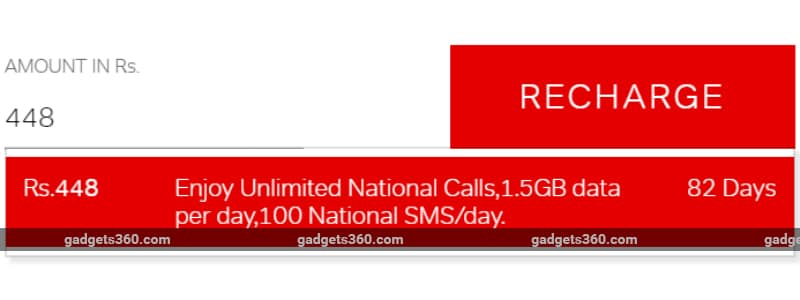 airtel rs 448 recharge revised gadgets 360 Airtel Rs 448 recharge  Airtel