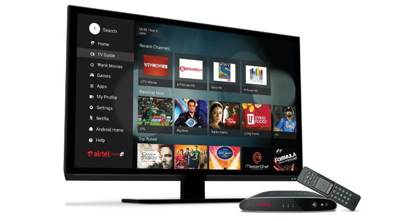 Airtel Internet TV Set Top Box Supports TV Channels, Netflix