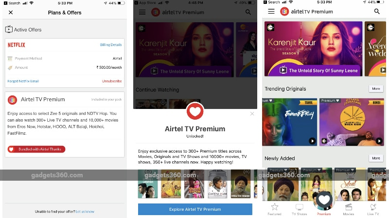 Airtel TV Premium With ZEE5 Originals and NDTV Hop Content Launched, Bundled Free for Select Customers