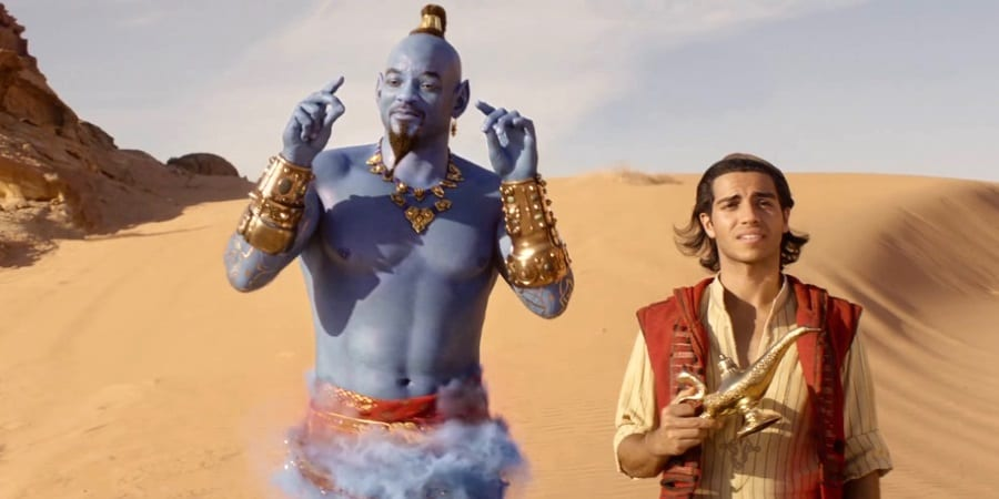 Aladdin Trailer — Will Smith's Blue Genie Is Still Weird but at Least the Banter Is Promising