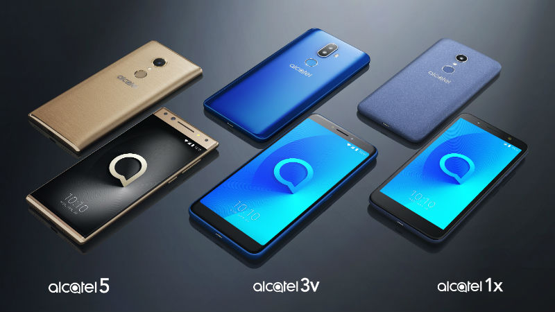 CES 2018: Alcatel 1X, Alcatel 3V, Alcatel 5 Smartphones With 18:9 Full View Displays Unveiled