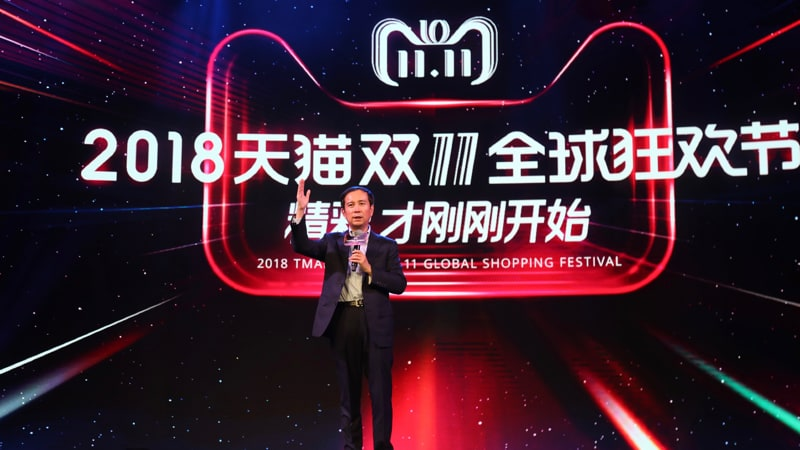 Alibaba Singles' Day tops $30bn but growth rate plunges