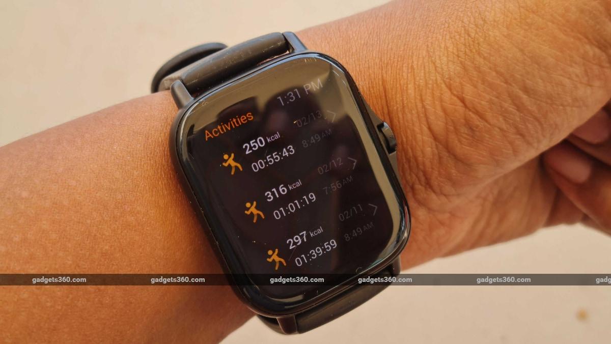 amazfit gts 2 gadgets 360 activities Amazfit GTS 2