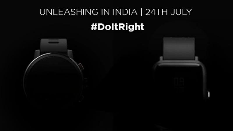 Xiaomi's Amazfit Bip, Stratos Smartwatch India Launch Teased for July 24
