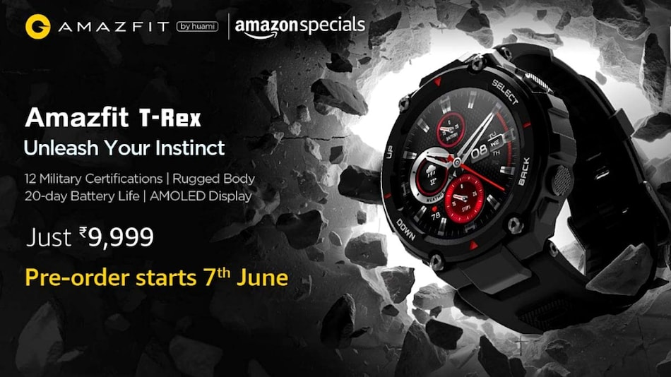 Amazfit T-Rex Price in India Revealed, Pre-Bookings Start June 7 via Amazon