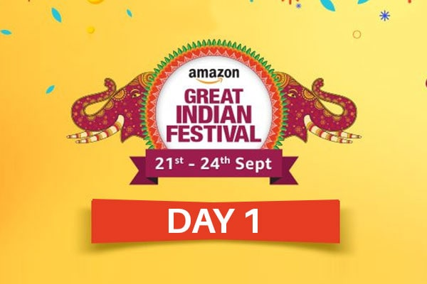 Day 1 of The Amazon Great Indian Festival Sale Offer, Sept 21st-24th 2017, Check for Best Deals and Offers of the Amazon Great Indian Sale here!
