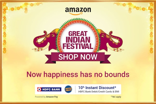 Amazon Great Indian Festival Sale 2020 (Starts 17th Oct): Best Offers & Deals Up to 80% OFF & 10% Instant Discount
