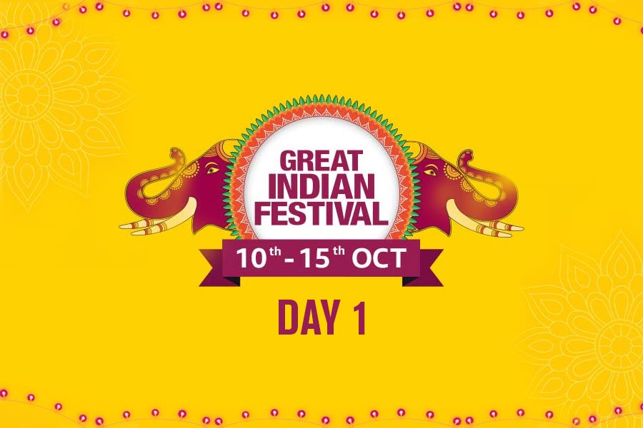 Day 1 of The Amazon Great Festival Indian Sale Offer, 10th-14th Oct 2018, Check for Best Deals and Offers of the Amazon Great Indian Festival Sale here!