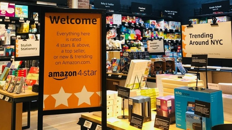 Amazon 4-Star Store in New York to Sell Only Top-Rated Products in New Retail Experiment