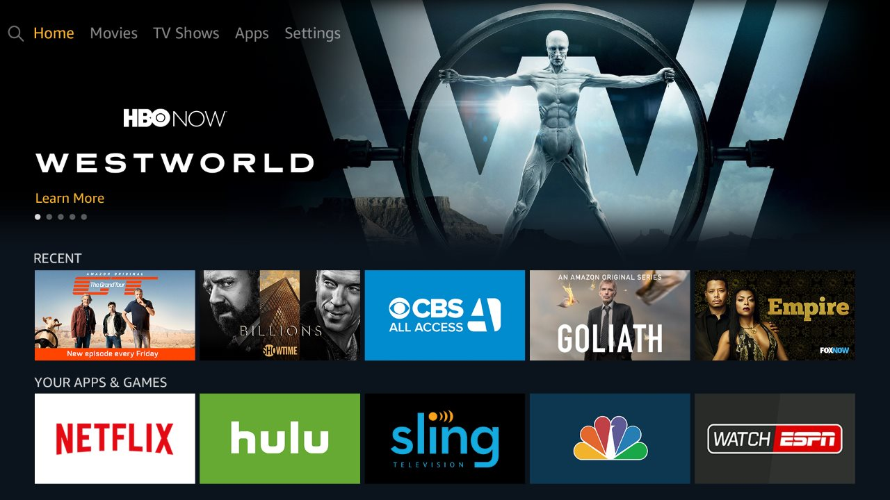 amazon fire tv ui Amazon Fire TV UI