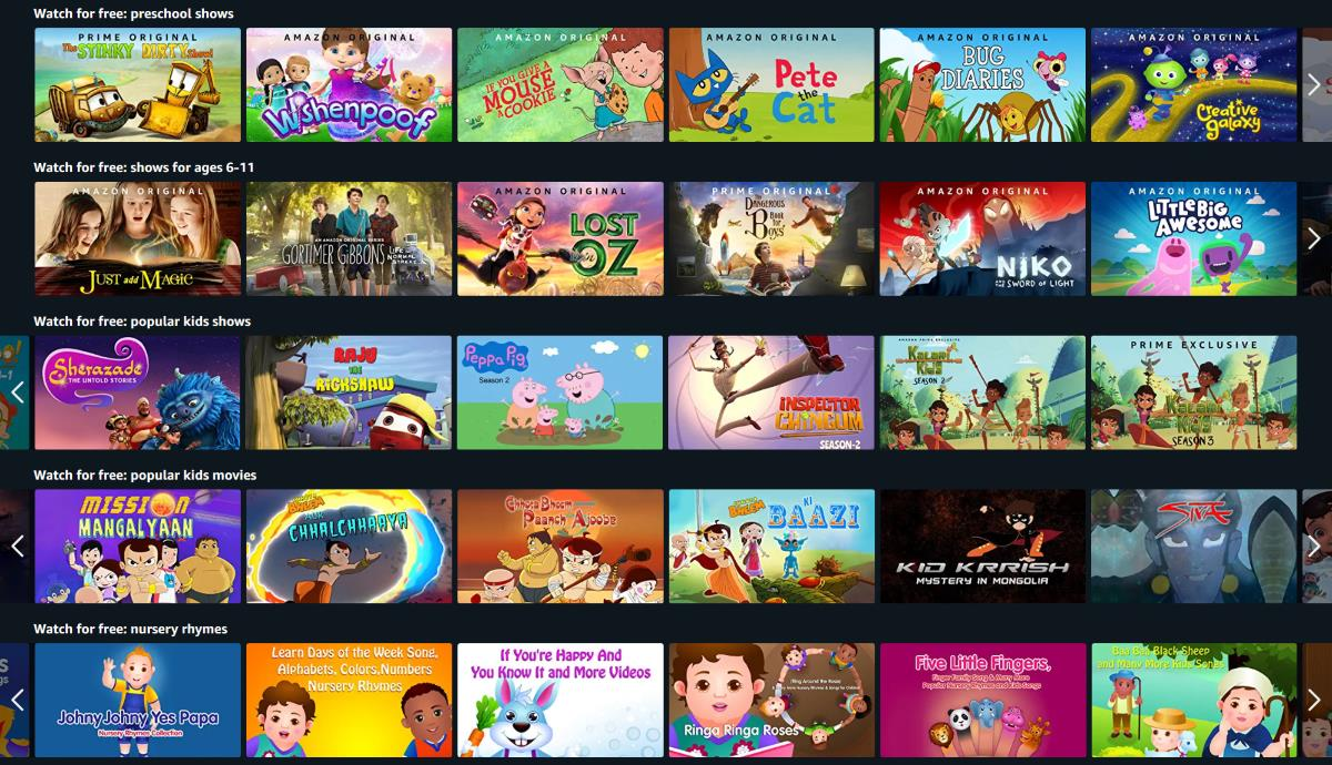 Amazon Prime Video Gives Free Access to Kids' Content to Help Parents Working From Home