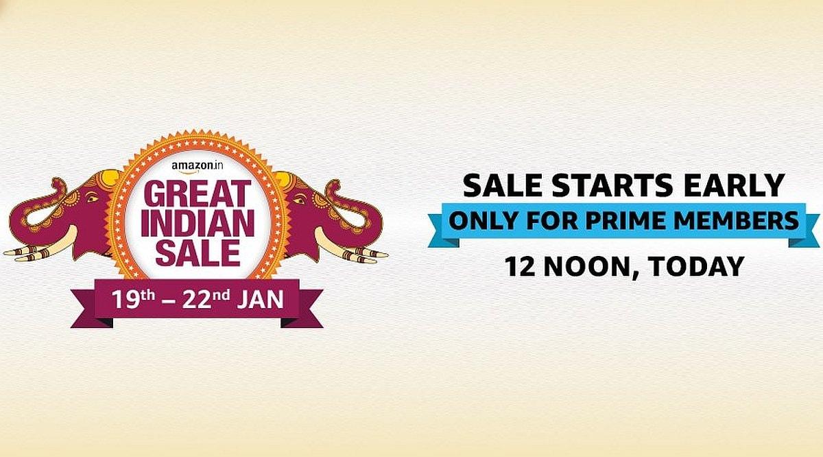 ப்ரைம் உறுப்பினர்களுக்கு இன்றே தொடங்குகிறது Amazon Great Indian Sale 2020!
