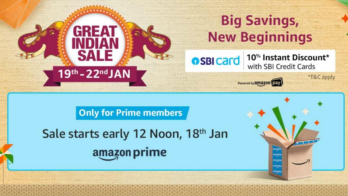 Amazon Great Indian Sale 19 जनवरी से, Redmi Note 8 Pro और Vivo U20 सहित कई फोन मिलेंगे सस्ते में