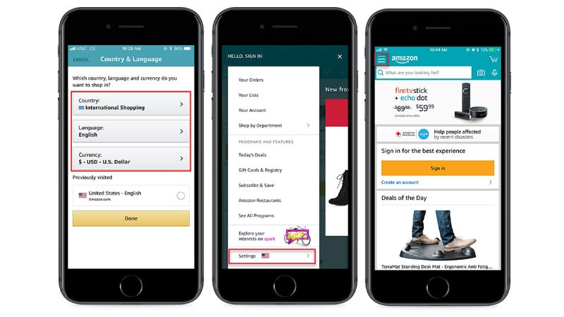 Amazon App Gets International Shopping Feature to Let Users Import Products from the US