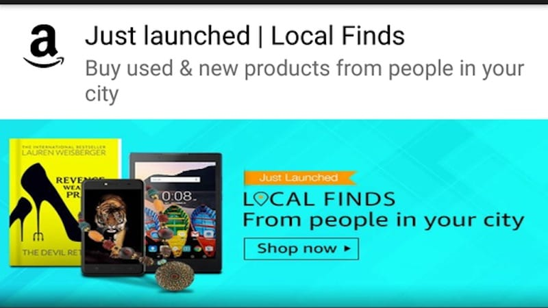 Amazon 'Local Finds' for Buying, Selling New and Used Products Launched in India