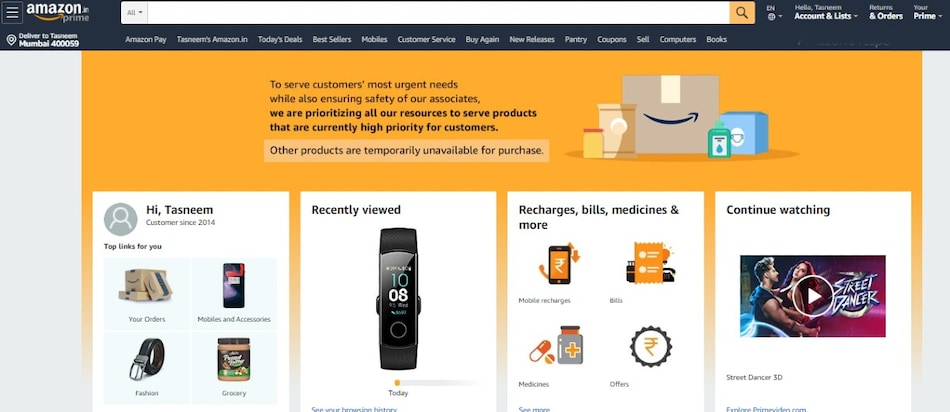 Coronavirus: Here's What Amazon, Big Basket, Flipkart, Other E-Retailers Saying About Services During Lockdown