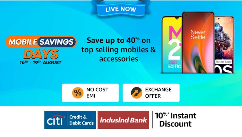 Amazon Mobile Savings Days Sale Begins: Up to Rs. 4,000 Off on OnePlus 9, More Deals