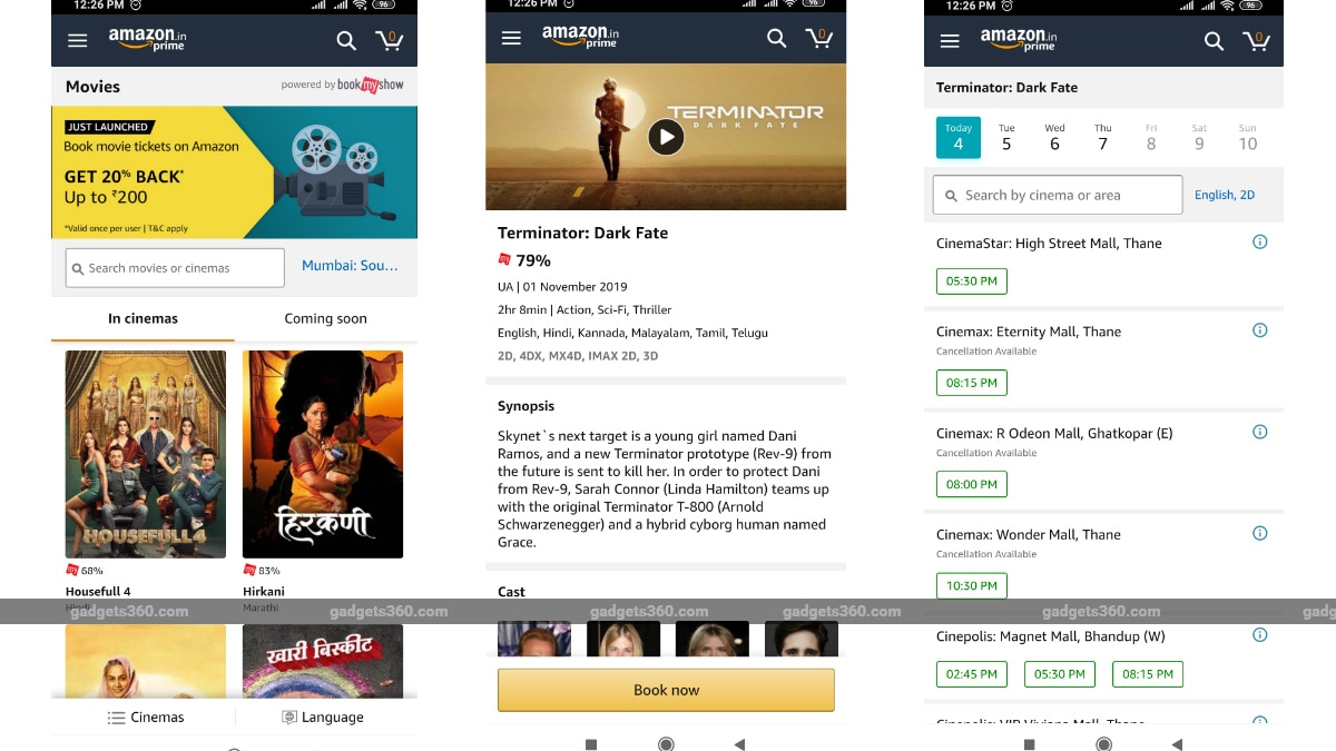 Amazon Partners Bookmyshow To Sell Movie Tickets In India All You Need To Know Technology News
