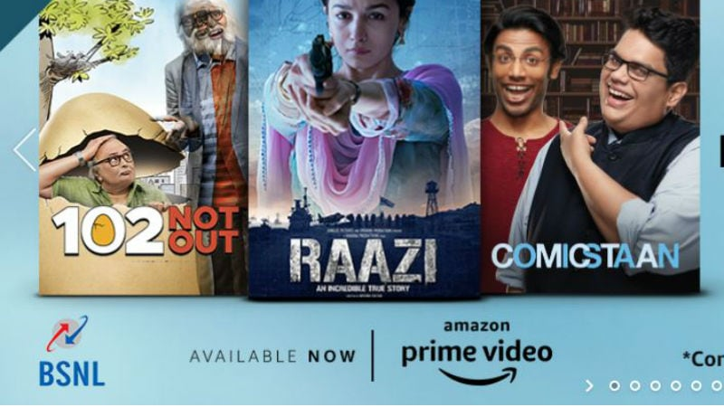 BSNL Offers Free 1-Year Amazon Prime Subscription to Postpaid and