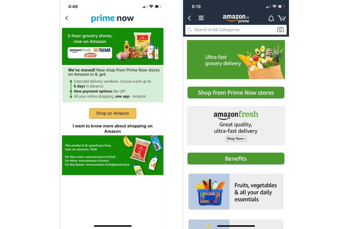 amazon prime now fresh screenshots gadgets 360 Amazon Prime Now  Prime Now  Amazon Fresh