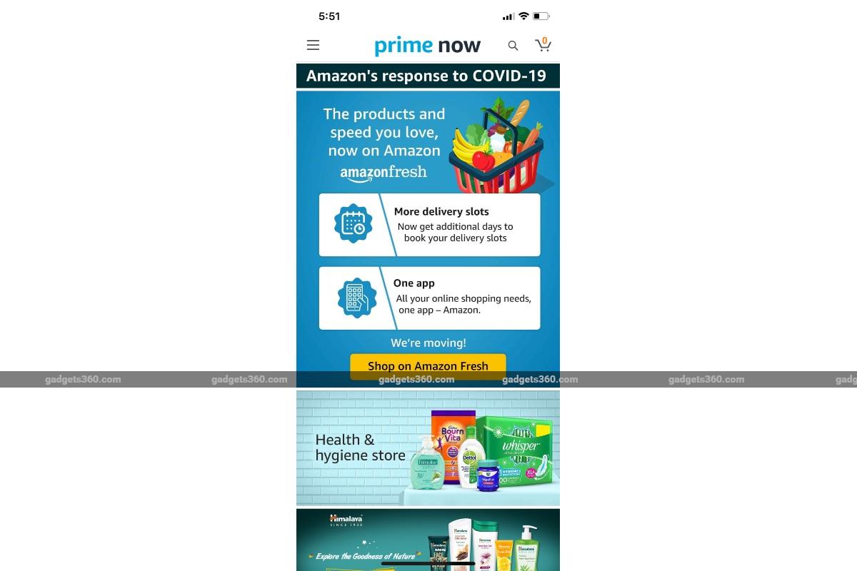 amazon prime now screenshot gadgets 360 Amazon Prime Now