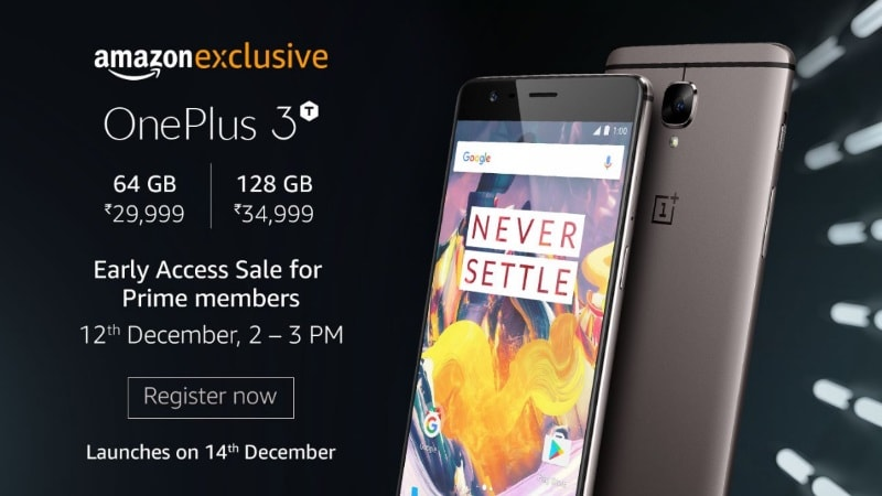OnePlus 3T launched in India; 5.5 Full HD display, Qualcomm Snapdragon 821