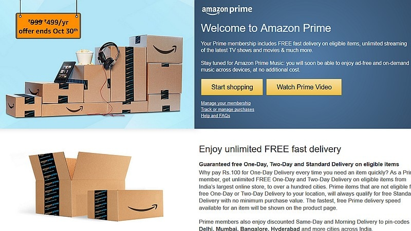 Amazon Prime Subscription's Rs. 499 Introductory Offer in India Ends on Monday