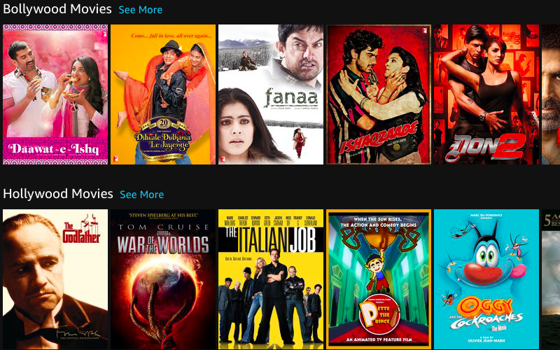 amazon prime video bollywood hollywood Amazon Prime Video