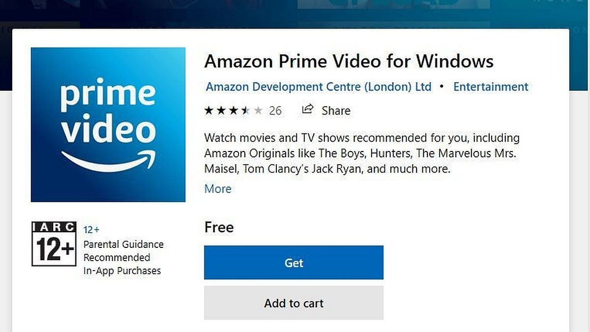 Amazon Video Windows 10