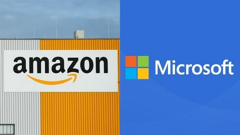 amazon microsoft jostle as pentagon calls for cloud contract bids