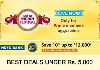 Amazon Great Indian Festival Sale 2020: The Best Deals Under Rs. 5,000
