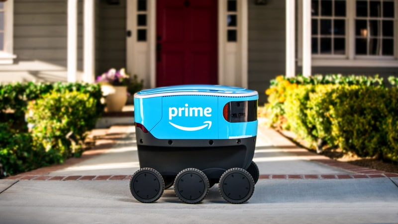 Amazon's cooler-sized robot 'Scout' is out delivering packages