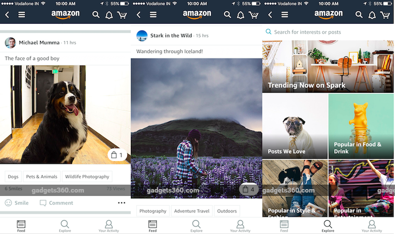 Amazon Spark Social Networking Feature Launched on iOS App