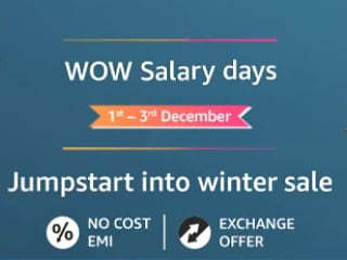 Amazon Wow Salary Days Begin: Laptops Starting at Rs. 17,990, More Deals