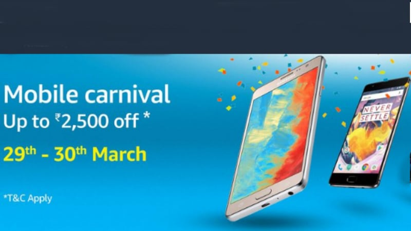 Amazon India Mobile Carnival: Top Deals on OnePlus 3T, iPhone 7, Xiaomi Redmi 4A and Other Smartphones