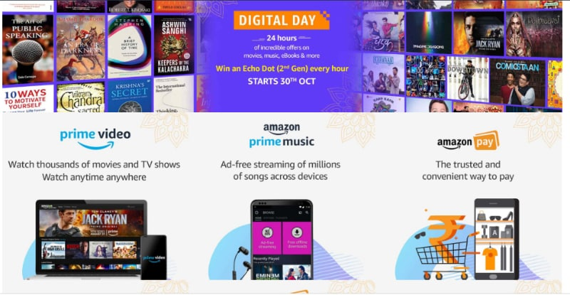 Amazon Digital Day on October 30: Deals on Echo and Kindle Devices, Cashbacks & More