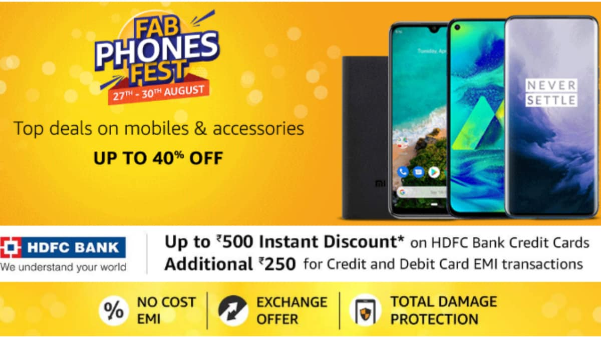 Amazon Fab Phones Fest Sale Offers Discounts on Samsung Galaxy M30, Honor 9N, Mi A2, More