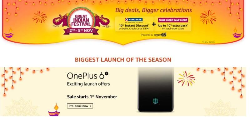 Amazon Great Indian Festival Sale 2 नवंबर से