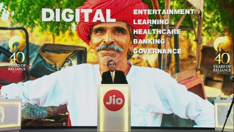 Mukesh Ambani Says Jio Helped Make India First in Mobile Broadband Consumption