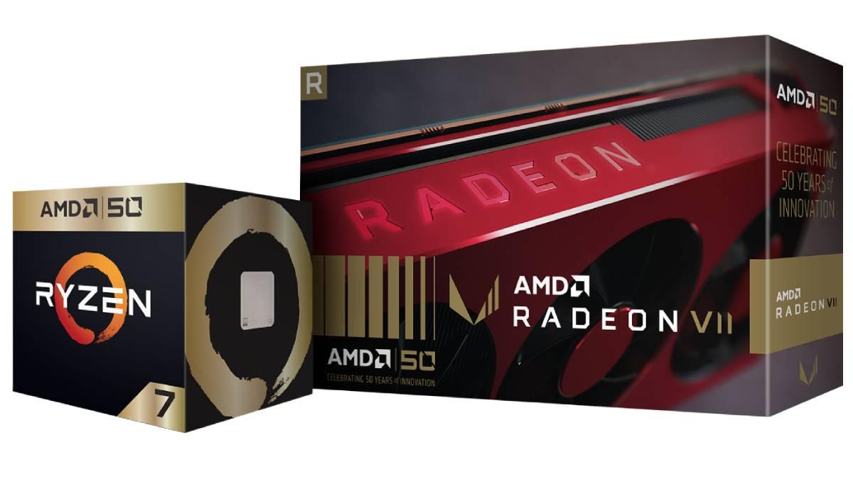 AMD Celebrates 50th Anniversary With Ryzen 7 2700X, Radeon VII Gold Edition, 2 Free Games
