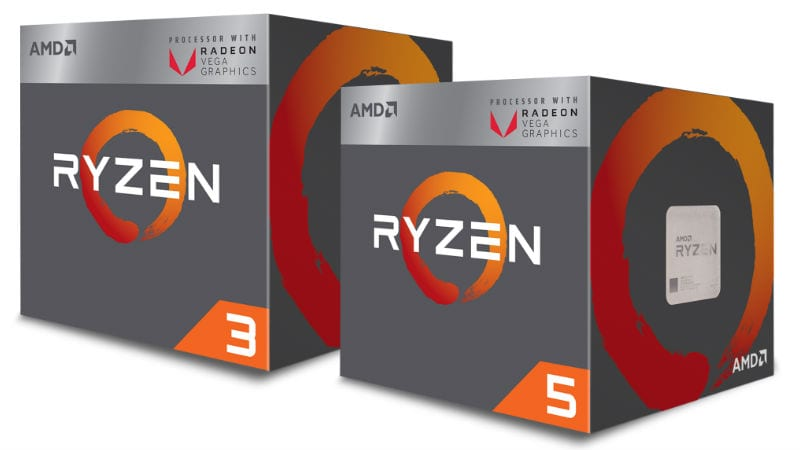 AMD Ryzen 3 2200G and Ryzen 5 2400G Processors With